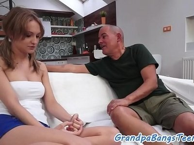 doggy  fuck  old man  tattoo  young