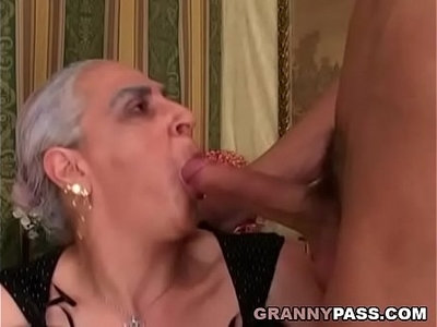 granny  huge cock  young